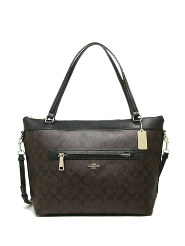 Coach 54690 Signature Tyler Tote - Brown & Black