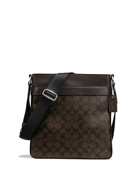 Coach 54781 Men's Signature Charles Crossbody Bag - Mahogany Brown