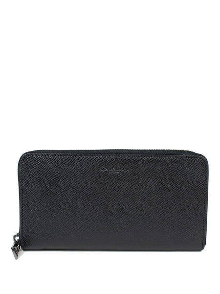 Coach 58107 Crossgrain Leather Accordion Wallet - Black - VixenQue - 1