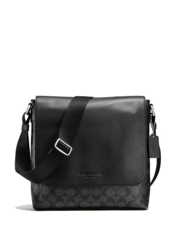 Coach 72109 Signature Sullivan Small Messenger - Charcoal Black - VixenQue