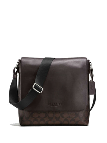 Coach 72109 Signature Sullivan Small Messenger - Mahogany Brown - VixenQue - 1
