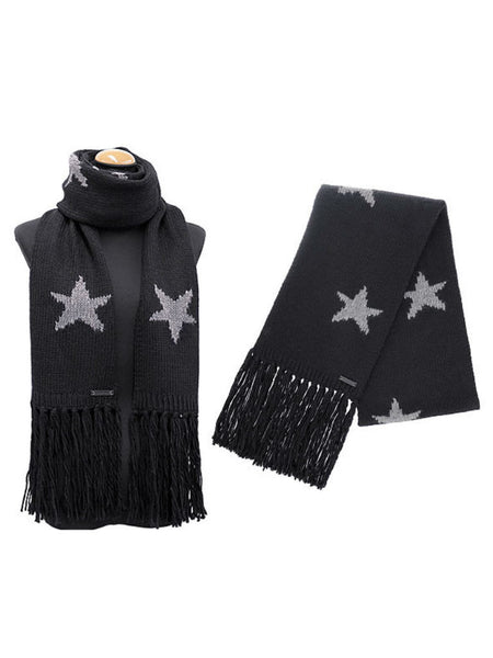 COACH 86021 Star Intarsia Knitted Muffler - VixenQue - 1