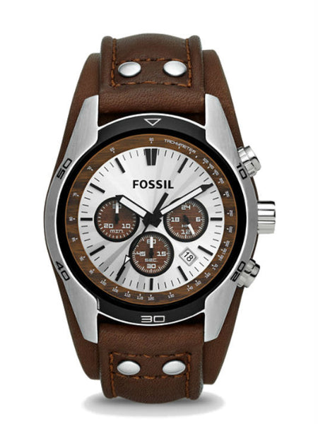 FOSSIL CH2565 Coachman Chronograph Leather Watch - Brown