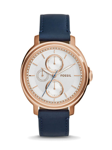 FOSSIL ES3832 Chelsey Multifunction Navy Leather Watch