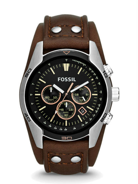 FOSSIL CH2891 Coachman Chronograph Brown Leather Watch