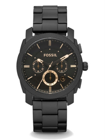 FOSSIL FS4682 Machine Mid-Size Chronograph Stainless Steel Watch - Black