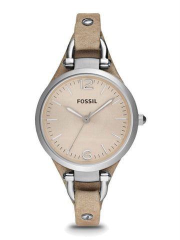 FOSSIL ES2830 Women's Georgia Bone Leather Watch - Beige