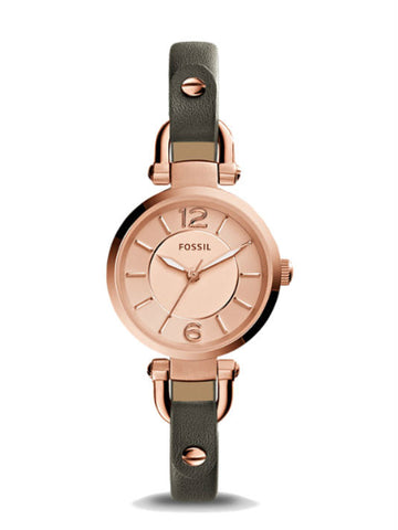 FOSSIL ES3862 Women's Georgia Grey Leather Watch