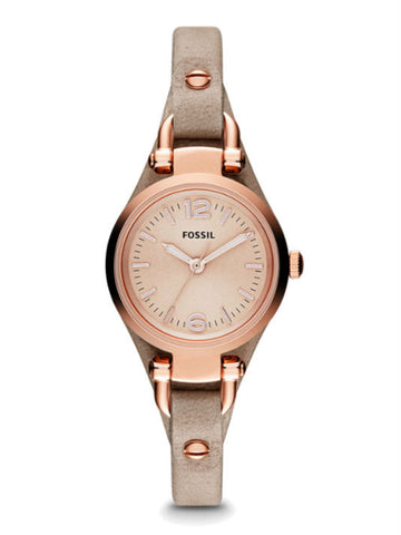 FOSSIL ES3262 Georgia Mini Sand Leather Watch - Brown