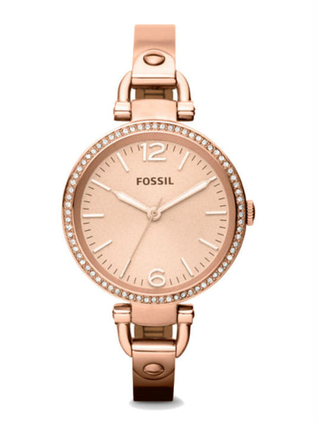FOSSIL ES3226 Women's Georgia Stainless Steel Watch - Rose Gold