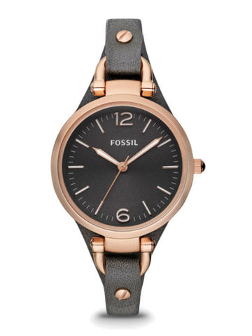 FOSSIL ES3077 Women's Georgia Bone Leather Watch - Grey