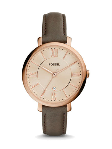 FOSSIL ES3707 Jacqueline Grey Leather Watch