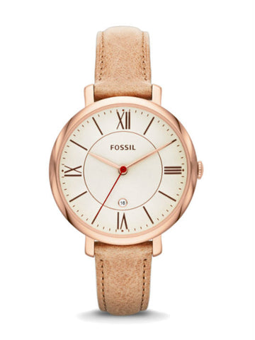 FOSSIL ES3487 Jacqueline Sand Leather Watch - Beige