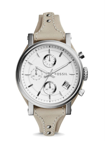 FOSSIL ES3811 Original Boyfriend Chronograph Beige Leather Watch