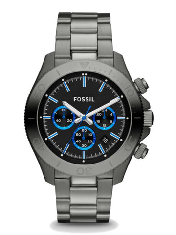 FOSSIL CH2869 Retro Traveler Chronograph Smoke Stainless Steel Watch