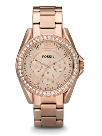 FOSSIL ES2811 Riley Multifunction Stainless Steel Watch - Rose Gold