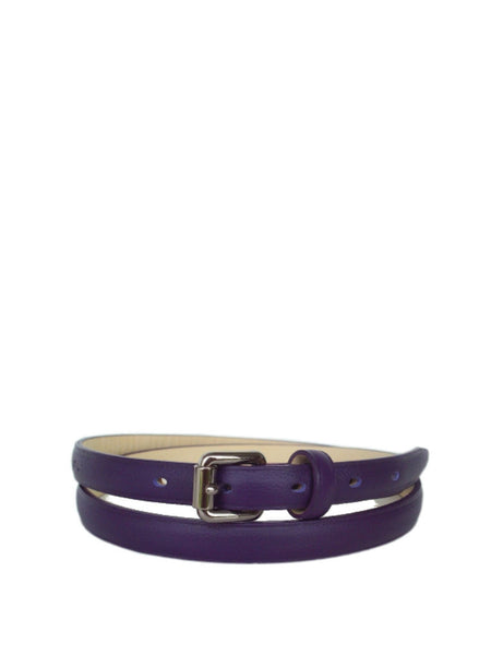 Longchamp 7579746 Lm Cuir Women's Belt - Purple - VixenQue