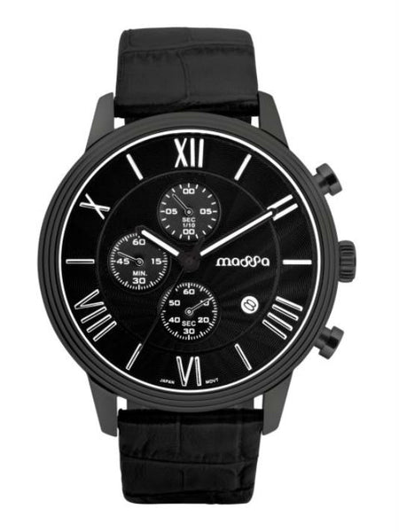 MASSA Paxion 05 Chronograph Unisex Watch - Black - VixenQue - 1