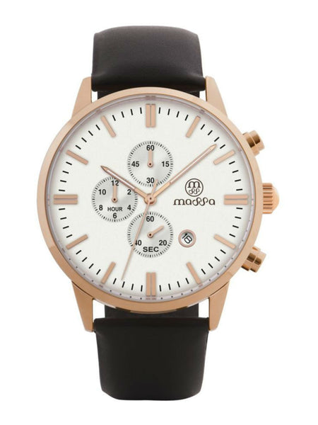 MASSA Perfecto Chronograph Men's Watch - White - VixenQue - 1