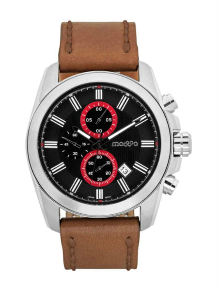 MASSA Riplay 01 Chronograph Men's Watch - Black & Red - VixenQue - 1