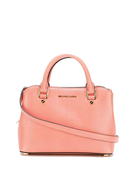 Michael Kors Savannah Small Leather Satchel - Peach