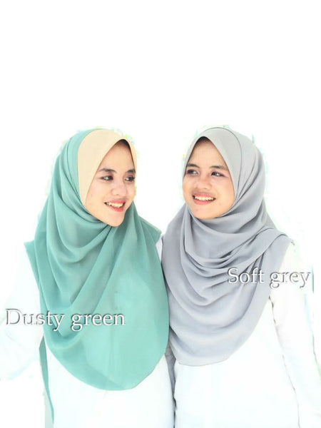 Miss Aiwa Bawal Instant - Dusty Green / Soft Grey - VixenQue