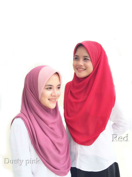 Miss Aiwa Bawal Instant - Dusty Pink / Red - VixenQue