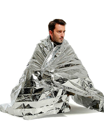Portable Waterproof Heat Reflective Emergency Rescue Blanket - VixenQue - 1