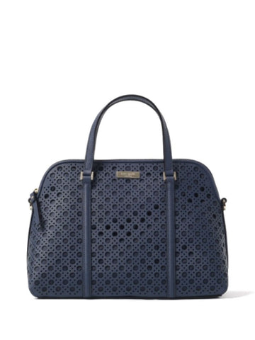 Kate Spade WKRU3659 Newbury Lane Caining Rachelle Convertible Satchel - French Navy - VixenQue - 1