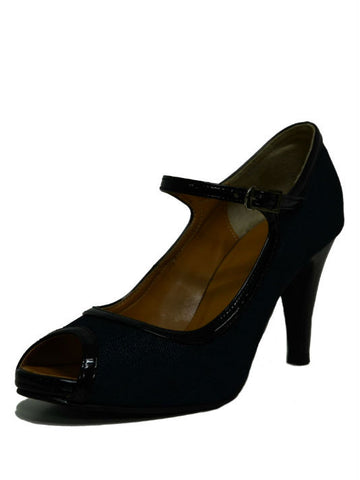 WINDY Dark Blue Denim Pumps - VixenQue