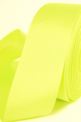 "2 Yards of 3"" Solid Neon Green Grosgrain Crafts Decoration and Cheer Bow Ribbon"
