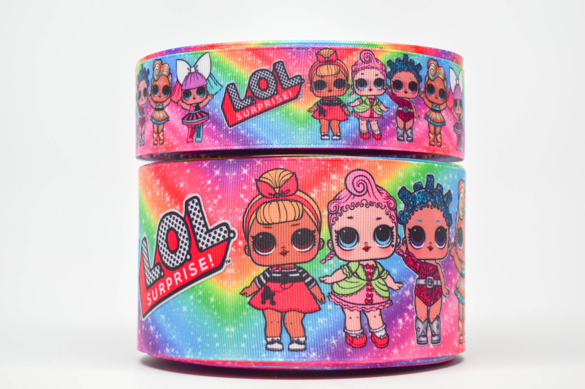 1.5 INCH GROSGRAIN RIBBON LOL Hair Bow Supplies Wholesale Surprise Rainbow Dolls