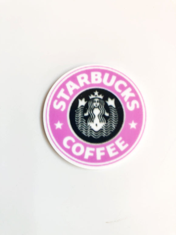 Pink Coffee Logo Small Size Resin
