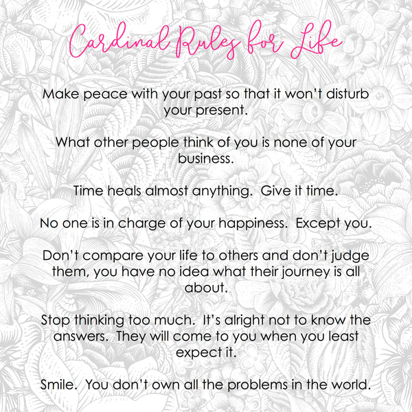 Cardinal Rules for Life