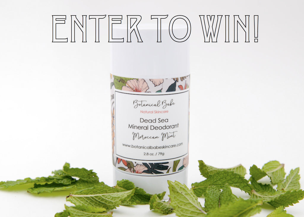 Enter our Giveaway for a Free Dead Sea Mineral Deodorant!