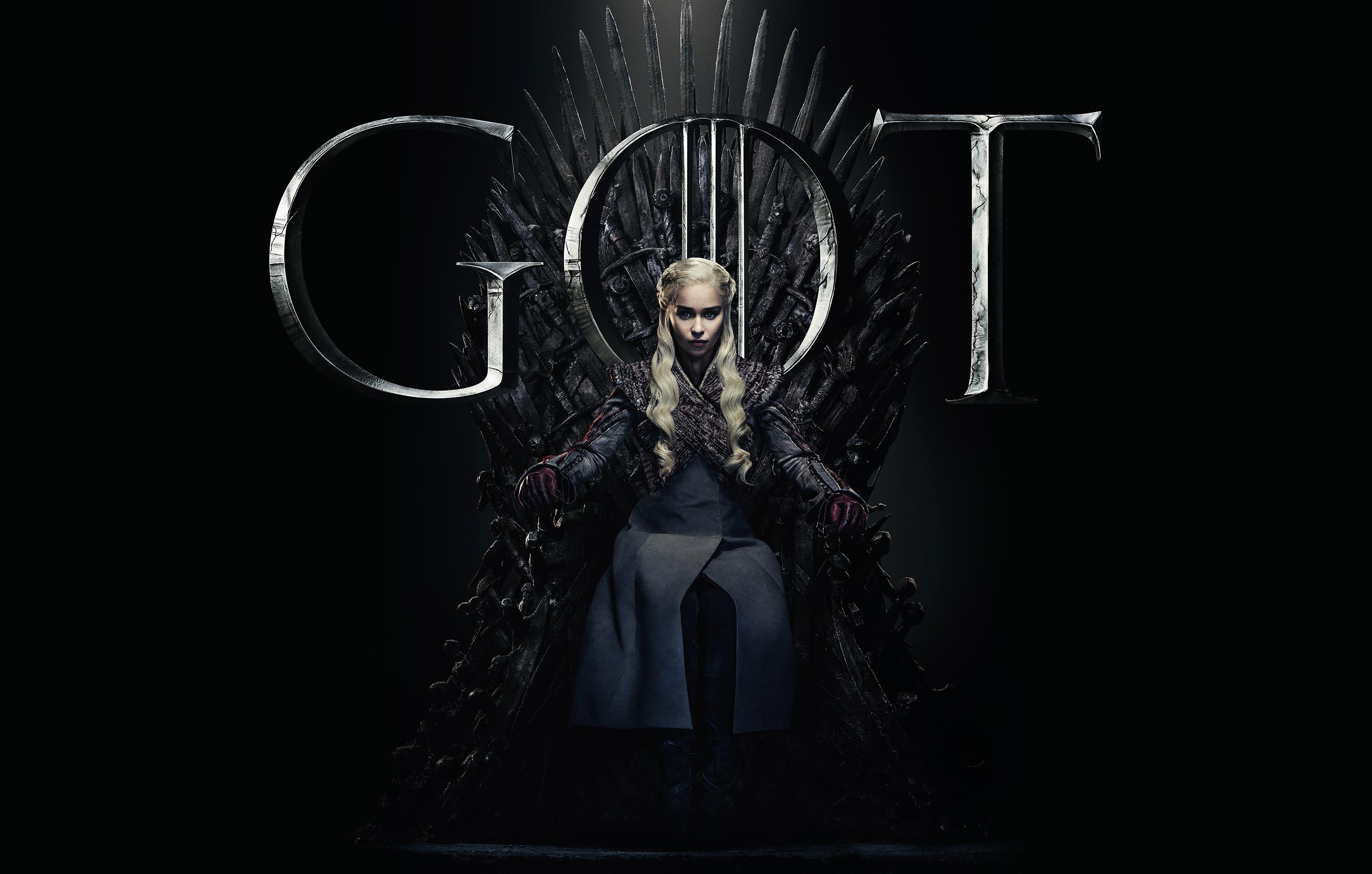 Daenerys Targaryen Iron Throne GOT Game Of Thrones Season 8 Episode 1