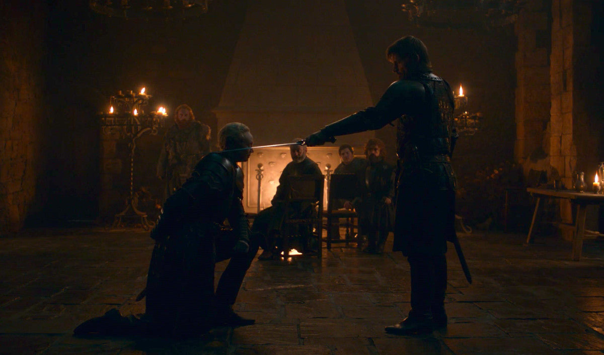 Game Of Thrones Season 8 Episode 2 Brienne Of Tarth knighted Jaime Lannister A Knight of the Seven Kingdoms