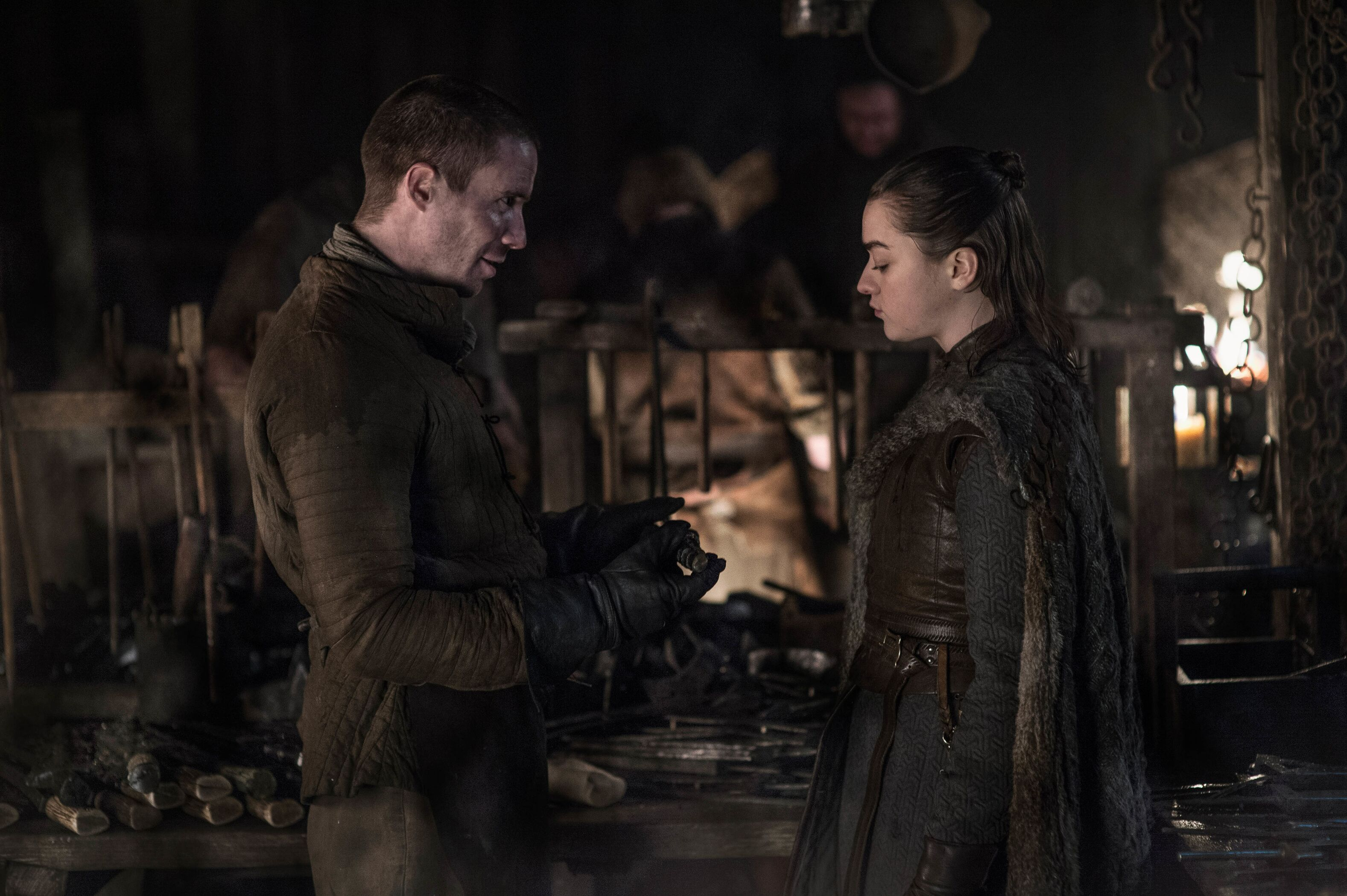 Gendry Baratheon and Arya Stark GOT Game of Thrones Season 8 Episode 1