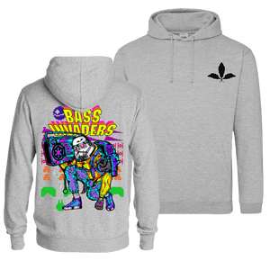 Bass Invaders - Pull Over Hoodie (Front & Back Print)
