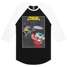 Load image into Gallery viewer, Bat-Ren & Super-Stimpy - 3/4 Sleeve Raglan