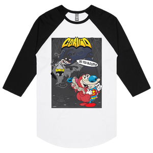 Bat Ren & Super Stimpy - 3/4 Sleeve Raglan