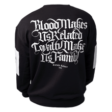 Load image into Gallery viewer, Blood & Loyalty - Black & White Block Sweatshirt