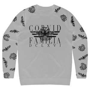 Corvid Culture Family - Raglan Sleeve Sweatshirt (Grey)
