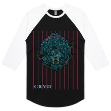Load image into Gallery viewer, Lion Medusa Glitch Lined - 3/4 Sleeve Raglan