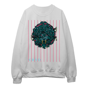 Lion Medusa Glitch Lined - Sweatshirt