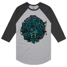Load image into Gallery viewer, Lion Medusa Glitch - 3/4 Sleeve Raglan