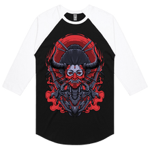 Load image into Gallery viewer, Mecha Geisha Hannya - 3/4 Sleeve Raglan