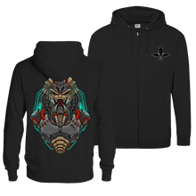 Load image into Gallery viewer, Mecha Predator V1 - Zip Hoodie (Front & Back Print)