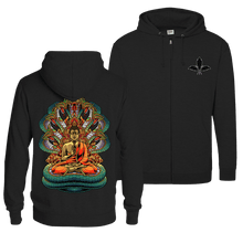 Load image into Gallery viewer, Nagas Buddha - Zip Hoodie (Front & Back Print)