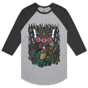 Black Metal Ninja Turtles - 3/4 Sleeve Raglan
